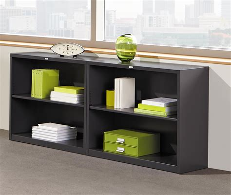 Steel Bookcases by Hon Metal Bookcase Bookcase With Two Shelves
