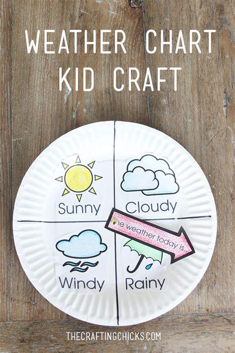 weather chart kid craft  crafting chicks