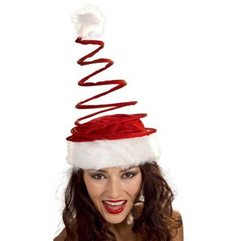 adults only funny santa hat unisex coil spiral santa hat standard white springy costume ebay