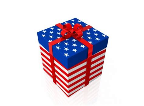 american flag design gift box stock photo powerpoint