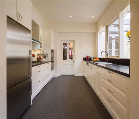 For A Galley Kitchen by Common Kitchen Layouts The Kitchen Design Centre