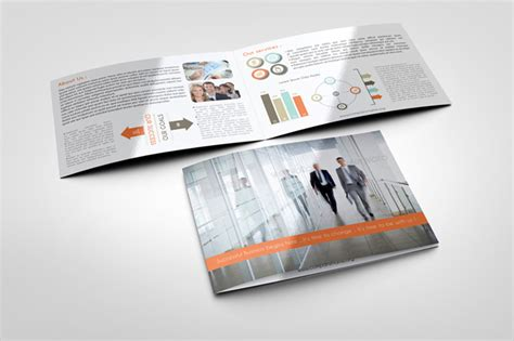Bi Fold Brochure Template Indesign by Corporate Bi Fold Brochure Template Graphicriver Print