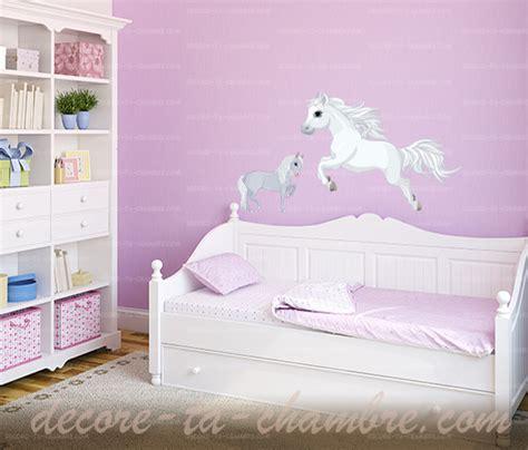 decore ta chambre stickers cheval blanc pour chambre de fille vente