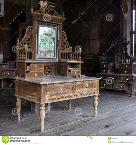 old fashioned table ls old dressing table stock photo image of wood house