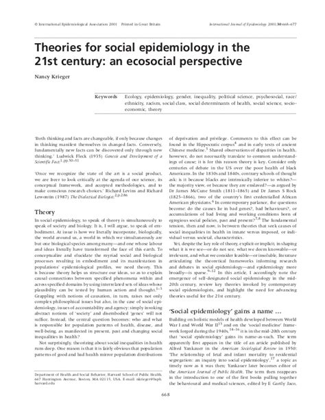 century 21 si鑒e social theories for social epidemiology in the 21st century desbloqueado