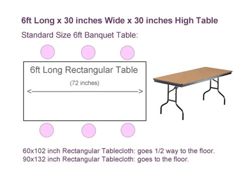 6 foot table in inches what size tablecloth for 6ft rectangular table