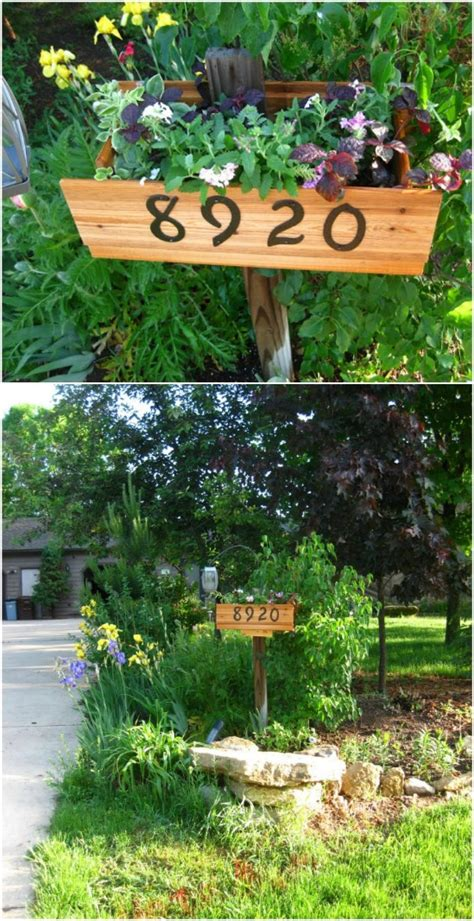 creative  unique projects  beautifully displaying house numbers page    diy