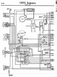 Subaru 1300 1400 1973 Wiring Diagrams