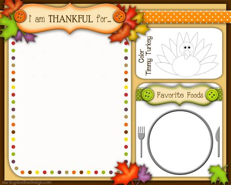 Free Thanksgiving Placemats