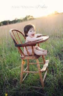 Antique Wooden Baby High Chair