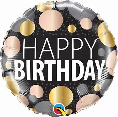 Foil Birthday Balloons Happy Balloon Metallic Dots