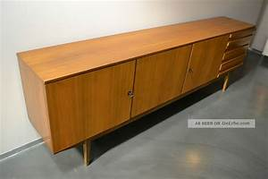 Mid Century Kommode : xxl sideboard kommode mit schubladen 60er 70er teak ~ Michelbontemps.com Haus und Dekorationen