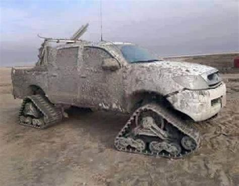 homemade 4x4 truck isis 4x4 car tank homemade terror weapons pictures
