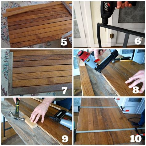 Ikea Desk Top Wood by How To Make A Desk With Ikea Trestle Legs And Wood
