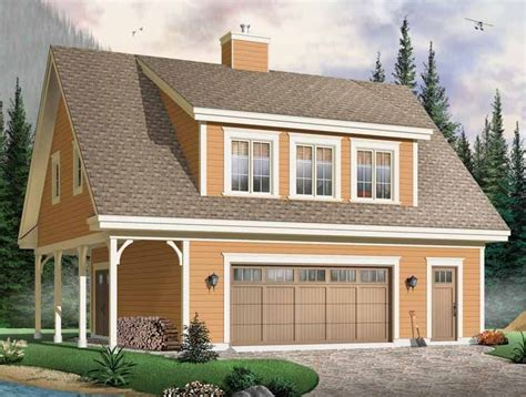 country style house plan  beds  baths  sqft plan   carriage house plans