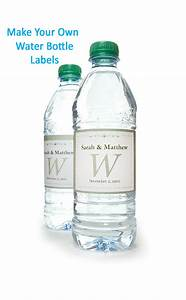Sample water bottle label green bottle label vector for How to put labels on water bottles