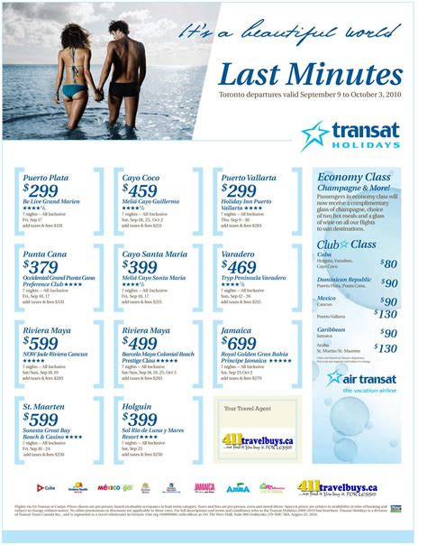 411 travelbuys 411 travelbuys last minute deals to sun destinations with transat holidays
