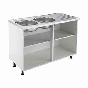 Meuble Sous Evier 120 : meuble sous vier 120 cm blanc castorama ~ Nature-et-papiers.com Idées de Décoration