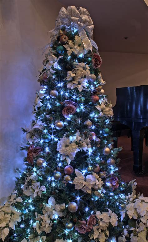 silver themed christmas tree silver purple and blue themed christmas tree in led ligh flickr