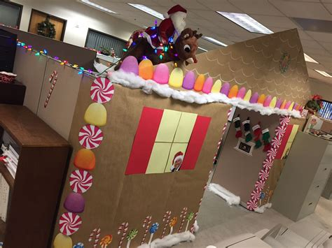 gingerbread house office cubicle decorations gingerbread house cubicle this is what happens when event planners only office supplies