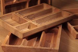 Solid Wood Cutlery Tray Insert for Drawers, Wood Kitchen