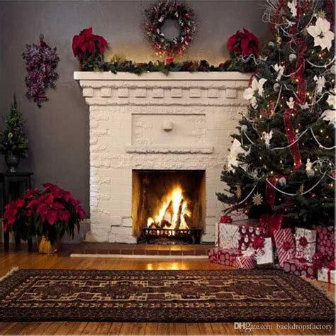 Backdrop With Fireplace by 2018 Indoor White Fireplace Garland Photography Backdrop