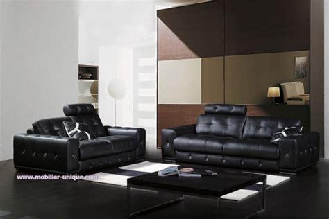 canap cuir 3 2 1 ensemble de canapés en cuir design 3 1 places mahé
