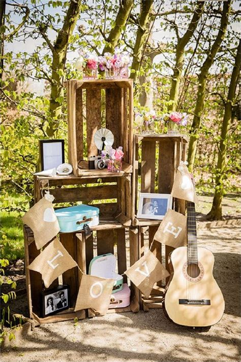 rustic country wooden crates wedding ideas deer pearl