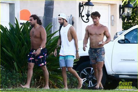 tyler cameron shows   summer tan shirtless