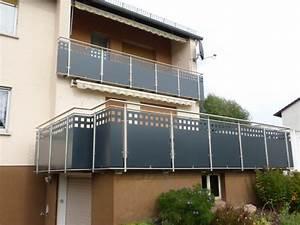 Balkongeländer Glas Anthrazit : balkongel nder mit lochblechf llung edelstahl roland berg f rth ~ Michelbontemps.com Haus und Dekorationen