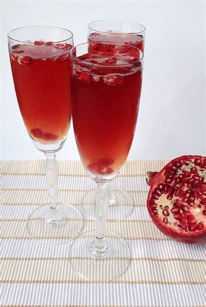 Pomegranate Bellini Winter Beverages Feast West Guest