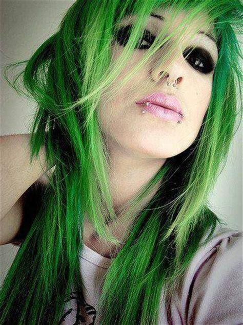 rose  vert  des emo scene goth