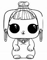 Lol Coloring Pages Doll Pets Omg sketch template