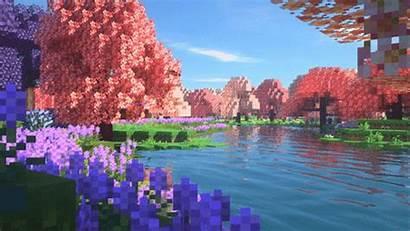 Minecraft Blossom Aesthetic Shaders Flower Bayek Garden