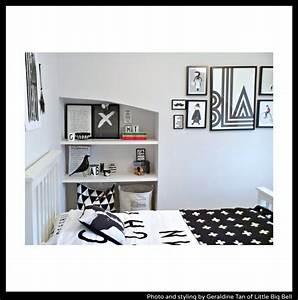 littleBIGBELL Child's-stylish-bedroom-monochrome-Little