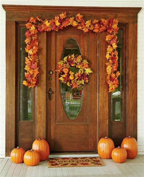 cozy thanksgiving front door decor ideas digsdigs