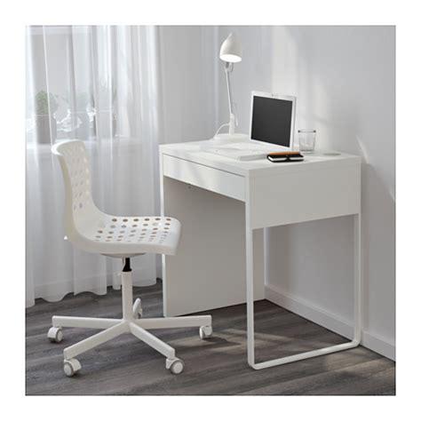 largeur bureau micke desk white 73x50 cm ikea