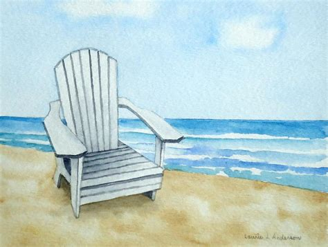 adirondack chair at the painting by laurie