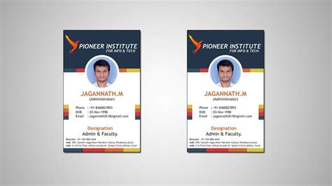 Professional Company Id Card Design Tutorial 2