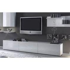cuisine tv plus meuble tv hi fi adhara meuble tv mural 240 cm blanc gris