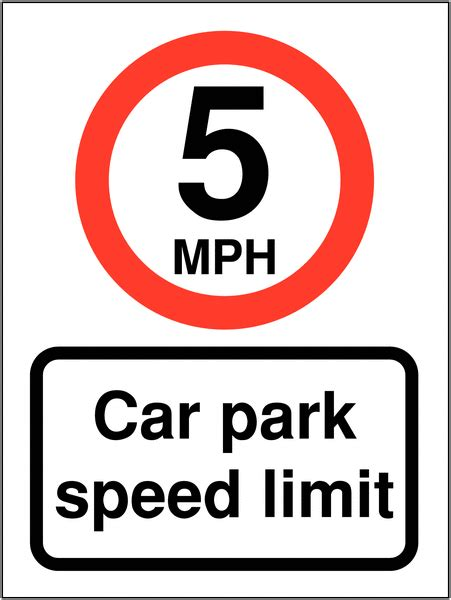 Image result for speed limit 5 mph sign