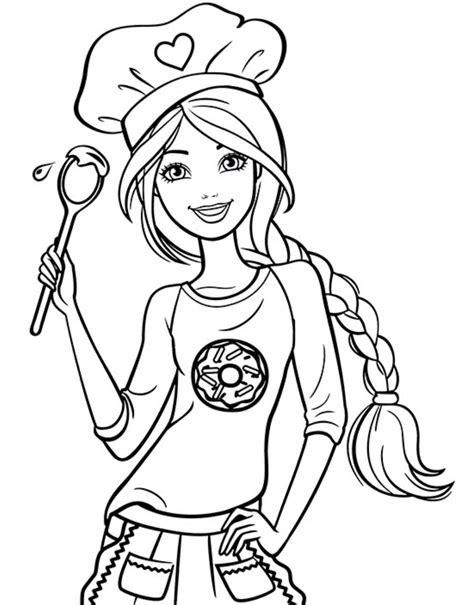 Chef Barbie Coloring Page 7 Imprimer Pinterest