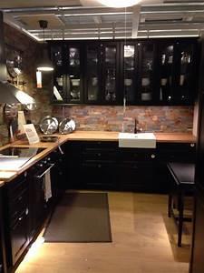 Cuisine Style Industriel Ikea : cuisine noire intime et industriel cuisine pinterest cuisines de luxe cuisines sombres et ~ Preciouscoupons.com Idées de Décoration