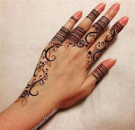 latest finger mehndi designs   hands henna