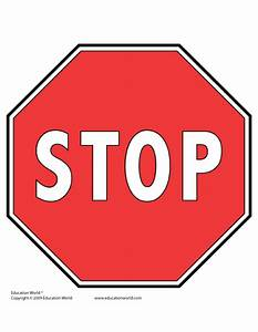 teacher tools templates gt traffic signs education world With stop sign template