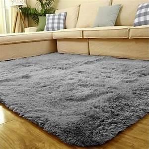 tapis chambre tapis salon carpet denfant shaggy moquette With tapis yoga avec canapé cdiscount gris