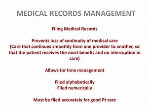 mo 260 seminar 4 medical records ppt video online download With medical documents management
