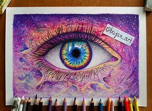 Galaxy eye drawing by Bajanoski on DeviantArt