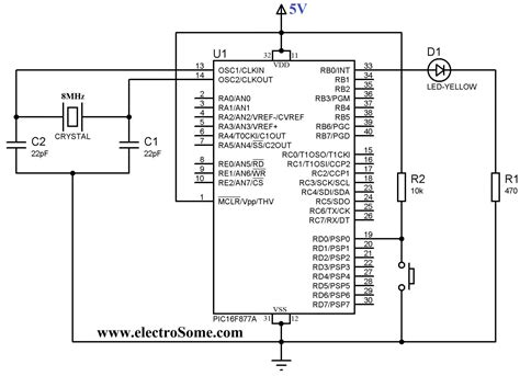 push button switch  pic microcontroller  tech