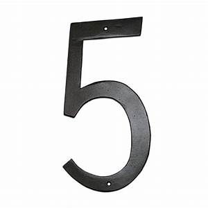 montague metal products 6 in standard house number 5 cshn With home depot letters and numbers